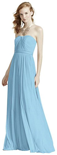 David's Bridal Extra Length Versa Convertible Mesh Bridesmaid Dress Style 4XLF15782, Capri, 22 (Pant Convertible Versa)
