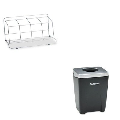 Fellowes Wire Catalog Rack (KITFEL10402FEL8032801 - Value Kit - Fellowes Four-Section Wire Catalog Rack (FEL10402) and Fellowes Office Suites Paper Clip Cup)