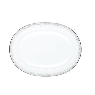 Noritake Alana Platinum Oval Platter,14-inch
