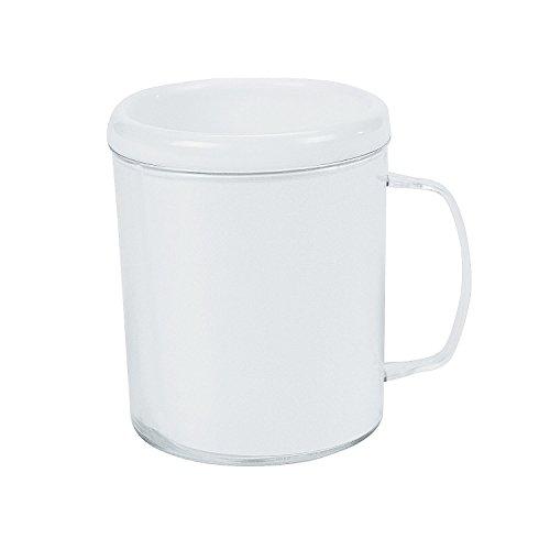 Fun Express - DIY Plastic Mug 12 pc - Craft Kits - DYO - Paper - Misc DYO - Paper - 12 Pieces -