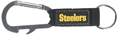 NFL Pittsburgh Steelers Carabineer Keychain, Black, One Size (Ring Pittsburgh Steelers)