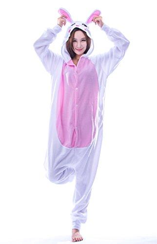 Adult Animal Kigurumi Cosplay Costumes One Piece Bunny Pajamas P/White (Bunny Pj)