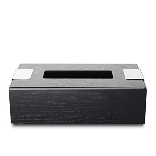 ZKZK Car Tissue Box Caja de la servilleta de Mesa de Centro de Madera de Caoba Caja de panuelos Bandeja de Bombeo de Forma Creativa Europea Retro (Color : -)