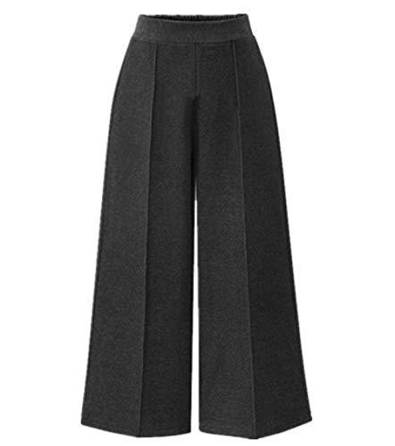 L Vita Grigio Alta Taglie Eleganti Forti Donna FuweiEncore Nero Colore Larghi Dimensione Pantaloni 4BqPpwx