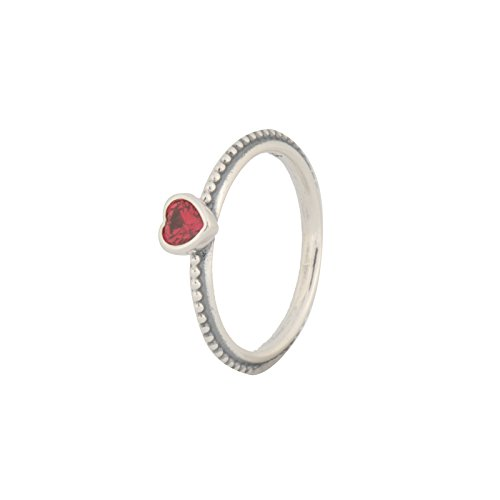 Pandora Ring One Love, Scarlet, Synthetic Corundum, Size 52 Eur 190896sgr-52