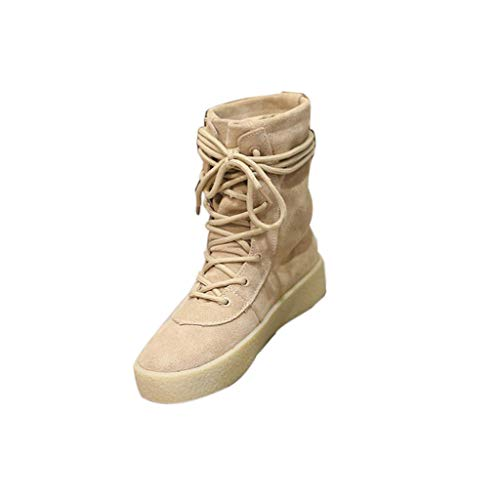 - Aunimeifly Female Frosted Lace-Up High-Top Women's Shoes Handmade Crepe Bottom Boots Ladies Casual Boots Khaki
