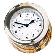 Weems & Plath Atlantis Collection Quartz Clock (Brass)