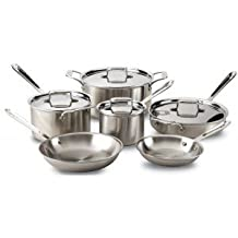 All-Clad Cookware Set - 10 Pieces D5 Polished