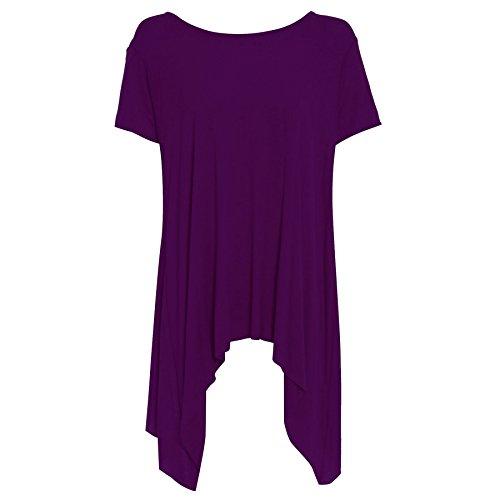 Be Jealous - Camiseta - Manga Larga - para mujer Purple - Party Dinner Date Evening Dress Plain