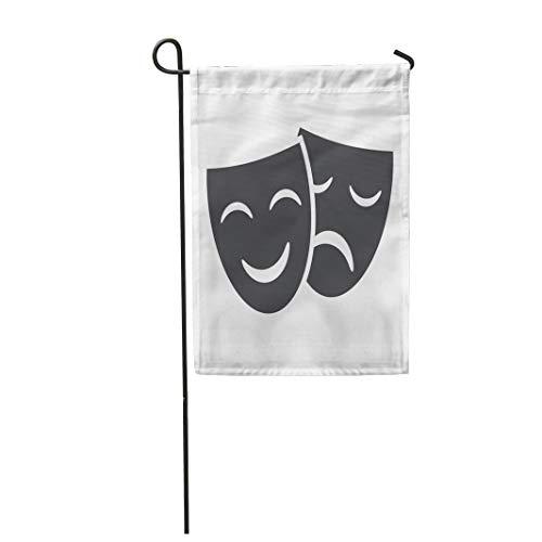 Greek Theatre Comedy Costumes - Semtomn Garden Flag Theatre Theater Masks
