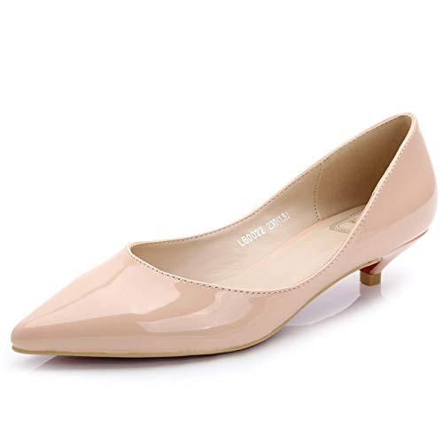 F FLYRCX Casual Pointu Couleur Unie en Cuir Verni de Haute qualité Bouche Peu Profonde Chaussures Simples Chaussures de Travail Dames Chaussures 39 EU