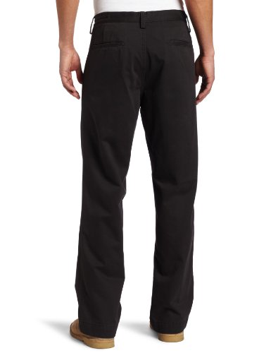 Haggar Men's LK Life Khaki Relaxed Straight Fit Flat Front Chino Pant,Dark Grey,32x30