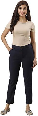 Nehamta Women Cotton Lycra Regular Fit Pant/Trouser