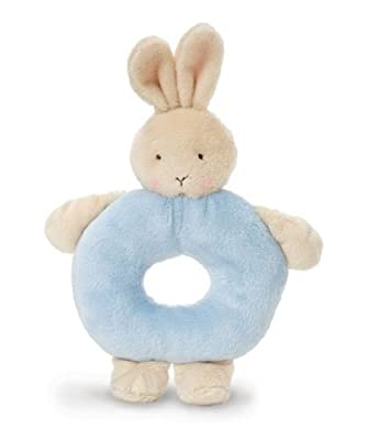 Bunnies By The Bay Bunny Ring Rattle Blue by Bunnies By The Bay