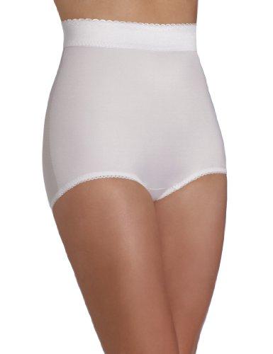 Rago Women's Plus-Size Hi Waist Panty Brief, White, 8X-Large (46)