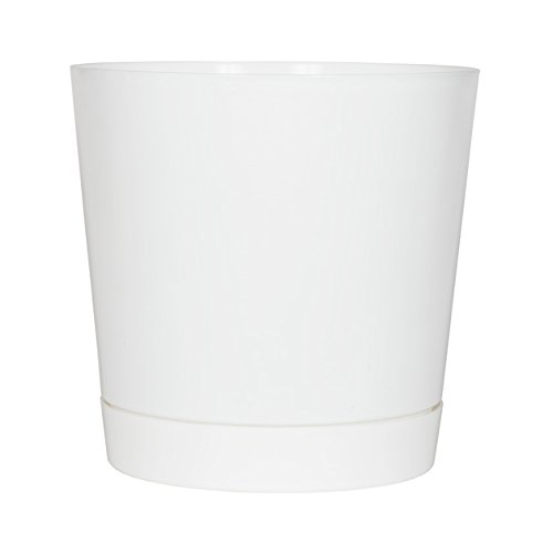 Full Depth Round Cylinder Pot, White, 14-Inch (Indoor Pot Plant 16)