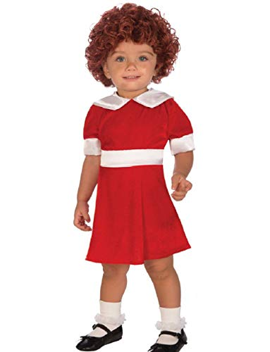 Authentic Kids Childs Girls Little Orphan Annie Toddler 2-4 Costume ()