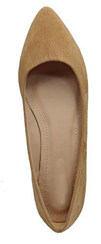 Walstar Flats Women's Basic Point Toe Ballet Flats Walstar B00U6MAKIO 7.5 B(M) US Su7-beige d28829