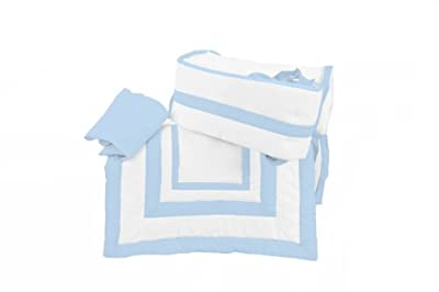 Baby Doll Modern Hotel Style Cradle Bedding set, Blue by Baby Doll