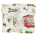 Imagine-Baby-Products-Bamboo-Swaddling-Blanket-Barnyard-Friends