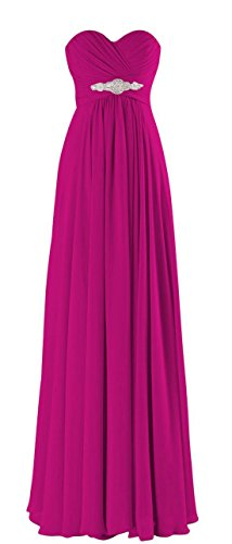 Long C271LF Women Prom Strapless Dress Gowns CaliaDress Elegant Formal Fuchsia Bridesmaid qXnw1qgOZ