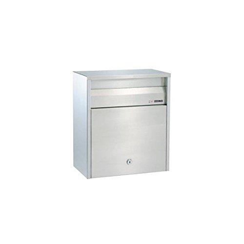 ハッピー金属 ステンレスポスト ファミール680 (壁面埋込&ポール取付タイプ) 『郵便ポスト』 ステンレスヘアーライン   B00AE1L784