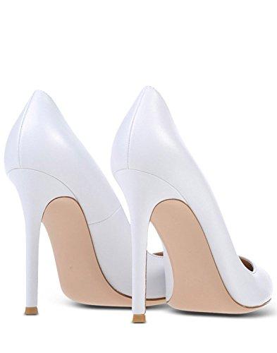 Coupe fermées Chaussures Haut Blanc Soireelady femme Escarpins Talon Femme Sexy Aiguille BOtfTA