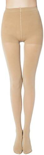 MANZI Women's 1-6 Pairs Control-Top Tights Opaque Pantyhose 70 De