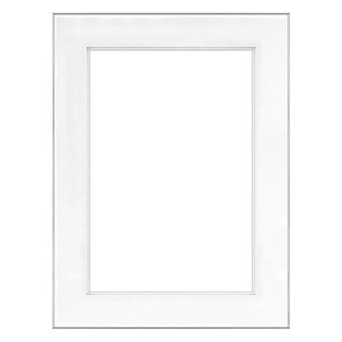 "Fineline Picture Frame Color: Silver, Size: 18"" x 24"" Frame/13"" x 19"" Shadow Mat -  Framatic, F1824SD63"