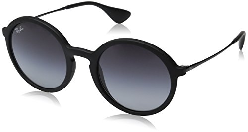 Ray-Ban INJECTED MAN SUNGLASS - BLACK RUBBER Frame LIGHT GREY GRADIENT DARK GREY Lenses 50mm - Rayban Shades