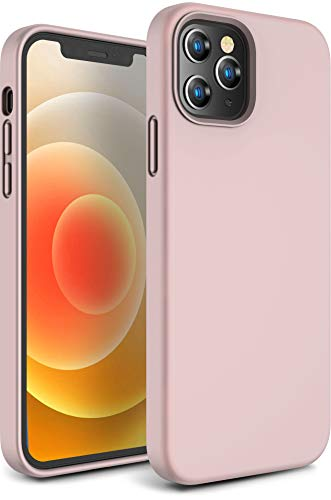 """CANSHN Compatible with iPhone 12 Case and iPhone 12 Pro Case 6.1"""" 2020, Liquid Silicone Soft Gel Rubber Full Body…"""