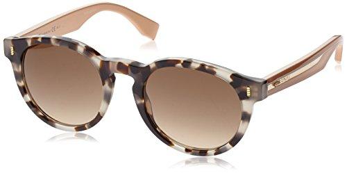 Fendi 0085/S HJU Havana FF0085/S Round Sunglasses Lens Category 2 Size 50mm