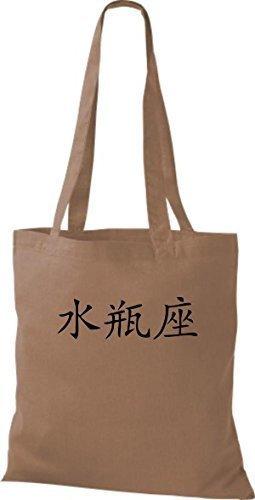Shirtinstyle - Bolso de tela de algodón para mujer - caramel