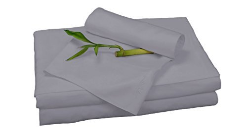 100% Bamboo Rayon Sheet Sets by BedVoyage the Eco Resort Linen Collection is Spa and Resort Luxury in Your Own Bedroom (King, Platinum)