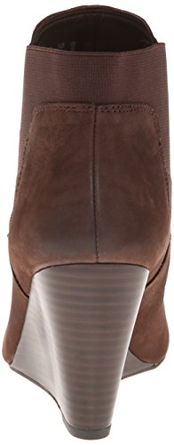 Stivale Con Zeppa Franco Sarto Womens Ottagonale In Pelle Marrone Oxford
