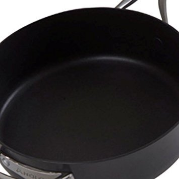 Anolon Nouvelle Copper Nonstick Covered Saucepan, 2-Quart, Dark Gray by Anolon