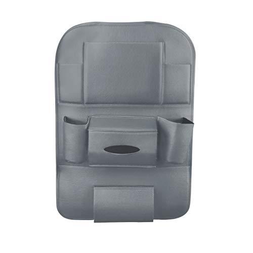 YUSHHo56T Car Seat Hanging Bag Interior Storage Storage Container Multi-pocket Soft Faux Leather Car Seat Hanging Holder Storage Bag Container - Grey