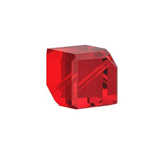 (Swarovski Article #5600 Crystal Diagonal Cube Beads 8mm Lt Siam Package of 10)