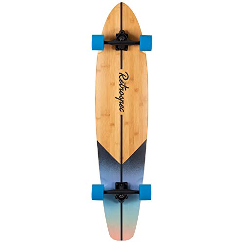 Retrospec Zed Bamboo Longboard Skateboard Complete Cruiser, Sunset