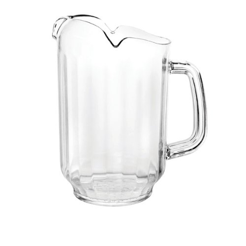ChefLand 64oz Serving Pitcher Restaurant Style Water, Beer, Beverage, Polycarbonate Plastic Pitcher 3 Spout, *Great Quality*