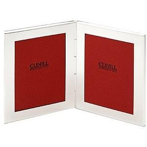 Luxurious PLAIN engraveable silverplate duo by Cunill® Barcelona - 3.5x5 by Cunill Silver Barcelona®