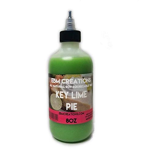 Key Lime Pie - Squeezable Wax Bottle 8oz - All Natural Soy Wax Highly Scented!