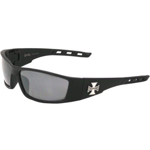 (Choppers Bikers Sports Wrap Sunglasses for Motorcycle, All Outdoor Sports 3466 (Black))