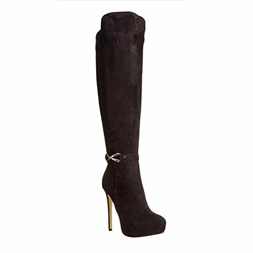 Fashion Fashion Größe Stiefel 34 Heel Abend Damen Schwarz Heels Elobaby High 46 S8wqEE
