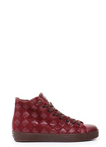 Bordeaux Cuir Crown Mcbi185006o Leather Baskets Femme Montantes wHZORqg