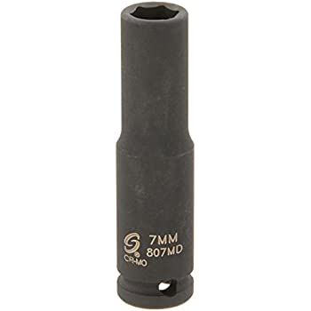 Sunex 807md 1//4-Inch Drive 7-Mm Deep Impact Socket Sunex International