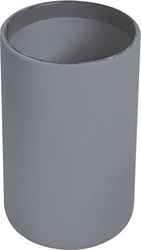 Vanity Cup (EVIDECO 6137180 Vanity Bath Tumbler Cup Soft Touch Design, Gray)