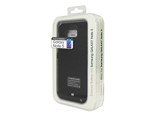 Cellet 5200 mAh Rechargeable External Battery event for Samsung Galaxy Note 5 Black Cases