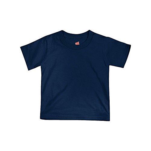 Hanes ComfortSoft Crewneck Toddler T-Shirt T120, 3T, Navy