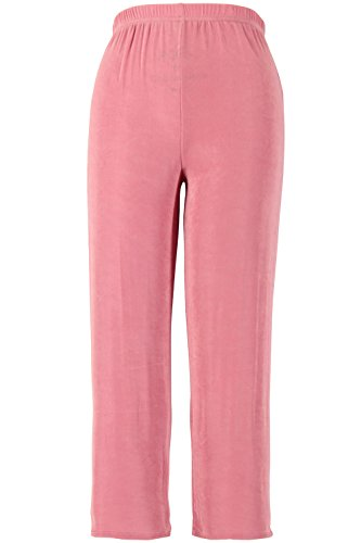 Jostar Women's Acetate Ankle Length Pants Medium Dusty Rose